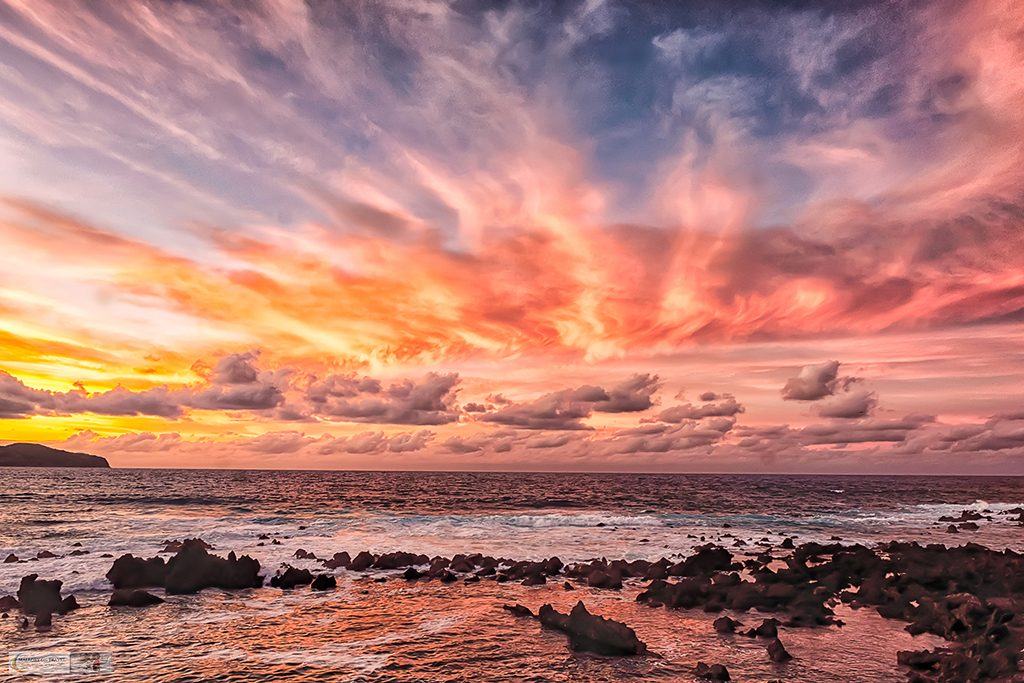 Spectacular Atlantic sunset in Madalena, on the island of Pico in the Azores archipelago, Portugal on Mallory on Travel adventure travel, photography, travel Iain Mallory_azores-4