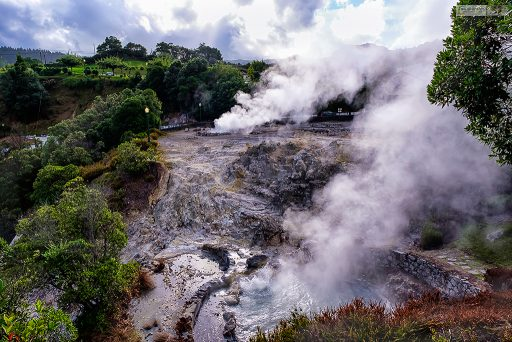 The bubbling, steaming caldeiras or geysers of Furnas, on the island of São Miguel in the Azores archipelago, Portugal's Atlancti islands on Mallory on Travel adventure travel, photography, travel Iain Mallory_azores-5