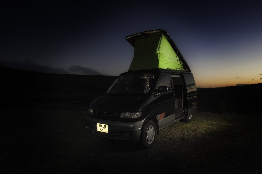 Campervanning experience, a Mazda Bongo camper van, converted to specification on Mallory on Travel adventure travel, photography, travel