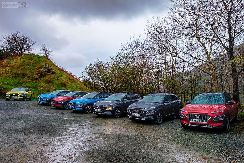 The Hyundai Kona range at the Kona 10 Challenge glamping village, Llyn Gwynant in Snowdonia National Park, North Wales on Mallory on Travel adventure travel, photography, travel Iain Mallory_Hyundai 012