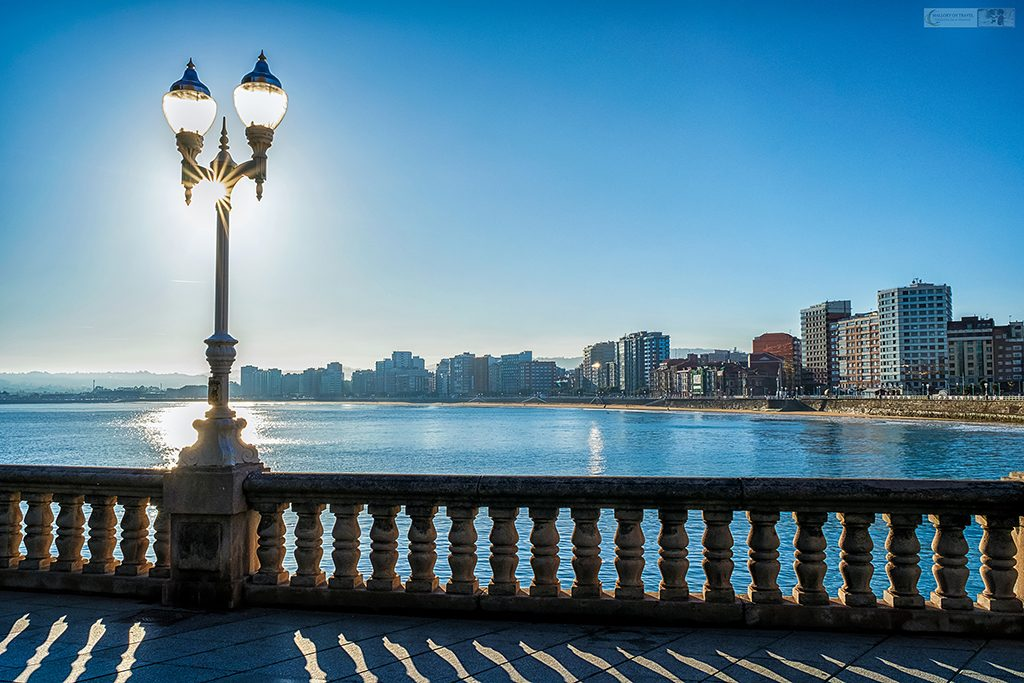 The skyline and promenade of Gijon, on the coast of Asturias in Green Spain, the north of the country on Mallory on Travel adventure travel, photography, travel Iain Mallory_spain-5